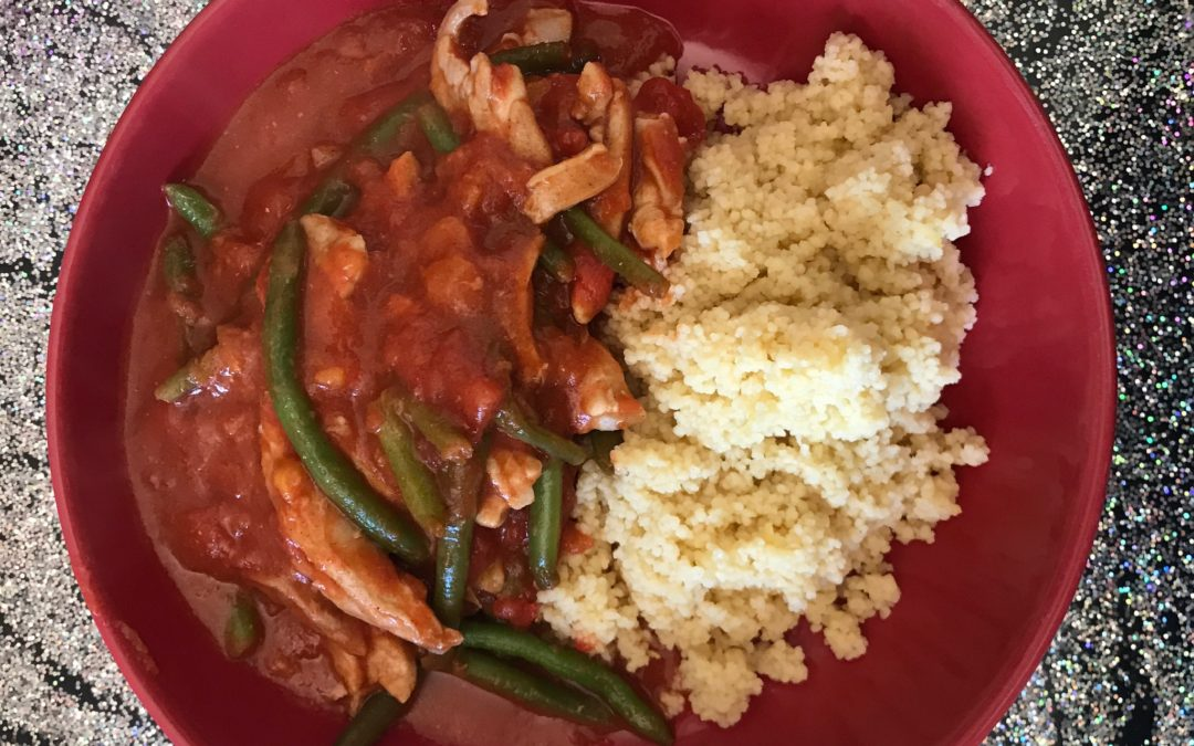 Moroccan Chicken, Green Beans and Couscous